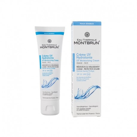 Crème hydratante UV – eau thermale MONTBRUN