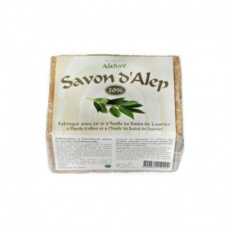Savon d'Alep 20 % - DIRECT NATURE