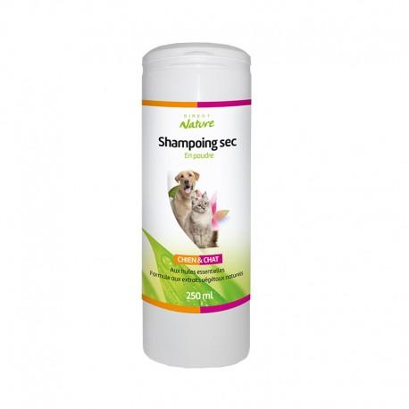 Shampooing sec chien et chat - DIRECT NATURE - Flacon 250ml en poudre
