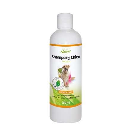 Shampooing chien poils courts - DIRECT NATURE - Flacon de 250ml