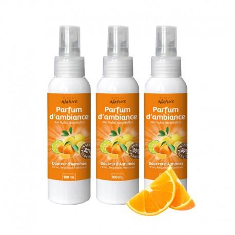 Pack de 3 parfums d'ambiance Douceur d'Agrumes - DIRECT NATURE