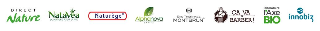 marques de produits bio et naturels disponibles sur NATURASHOP