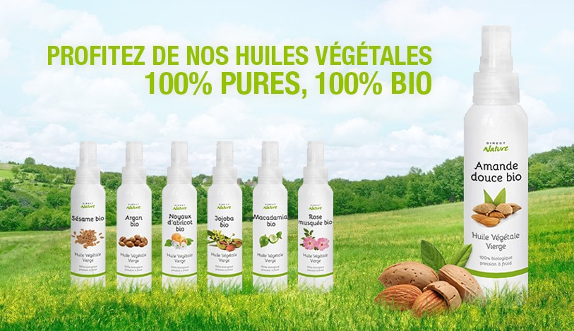 Huiles végétales bio naturelles pures