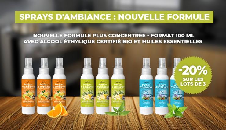 Sprays d'ambiance nouvelle formule !